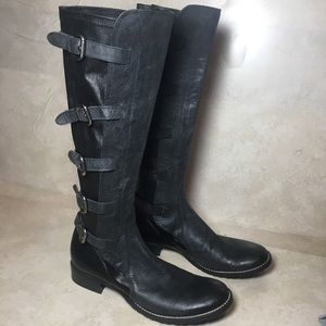 co op barneys new york black buckle boot 112